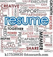 Resume word cloud