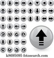 vector arrow buttons