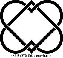 vector linked hearts