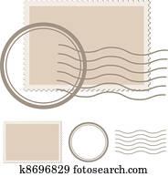 vektor, leer, post, briefmarke