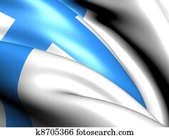 Flag of Marseille, France.