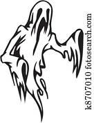 Ghost - Halloween Set - vector illustration