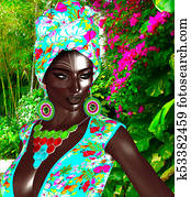 African Queen, Black Fashion Beauty.