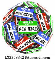 New Hire Name Tag Sphere Ball Group Fresh Employees Workers