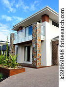 Modern architecture exterior details vertical image