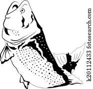 Big fish jumping