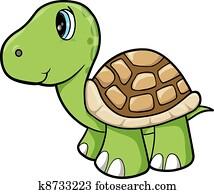 Cute Turtle Animal Vector