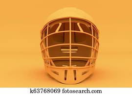 Lacrosse helmet in one tone color.