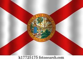 Waving Florida Flag