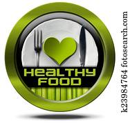 Healthy Food - Green Icon