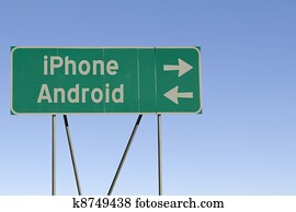 iPhone or Android road sign