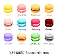 Macaroon flavors