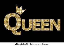 Vector illustration - Queen gold