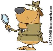 Happy Detective Dog