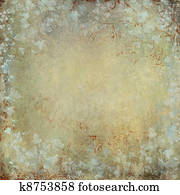 vintage and grunge texture with ivy foliage and faded graffiti o