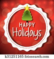 Happy holidays christmas design