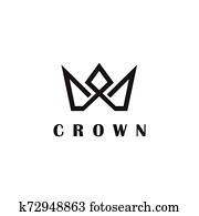 Luxury crown logo design inspiration vector template