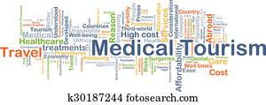 Medical tourism background concept