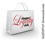 Shopper Loyalty Club Shopping Bag Promotion Rewards Program