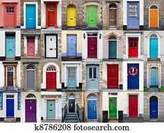 32 front doors horizontal collage