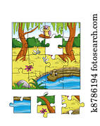the game of the puzzle, the jungle