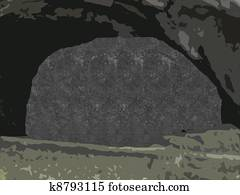 stereogram cave