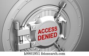 Access denied, safe door