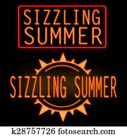 Sizzling summer neon sign