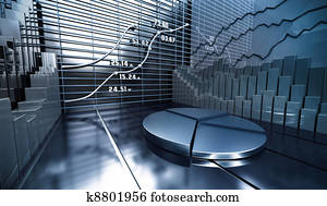 Stock market abstract background