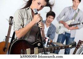 Young rock band