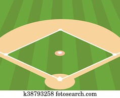 Baseball Field as Background