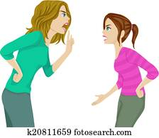 Mother and Daughter Arguing