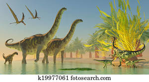 Argentinosaurus in Lake