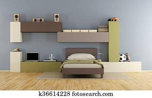 banque de photo paresseux gar on adolescent dormir sur bed prt042 recherchez des images. Black Bedroom Furniture Sets. Home Design Ideas