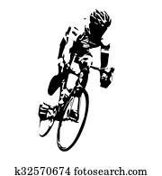 Cyclist vector. Road cycling