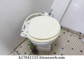 toilet in a small boat