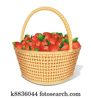 Vector Strawberry Basket