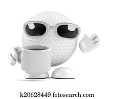 3d Golf ball tea break