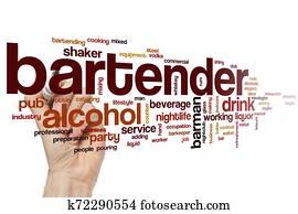 Bartender word cloud