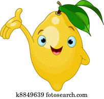 Cheerful Cartoon Lemon character