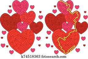 Hearts maze