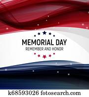 Memorial Day Background. Illustration