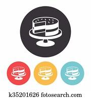 dessert cake icon