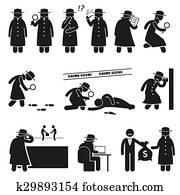 detektiv, spion, privatdetektiv