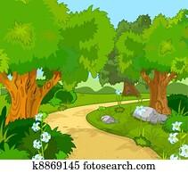 wald, landschaft