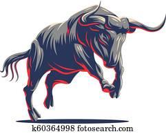 Bull. Vector logo.