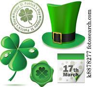 St. Patricks Day symbols vector se