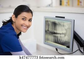Dental radiograph examination