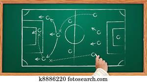handwritten soccer game strategy