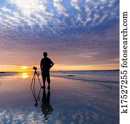 Silhouette of a photographer